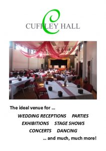 Cuffley Hall four-page A5 brochure June 2016